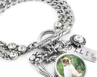 Custom Dog Charm Bracelet, Personalized Dog Bracelet, Dog Jewelry, Custom Dog Jewelry, Your Own Picture