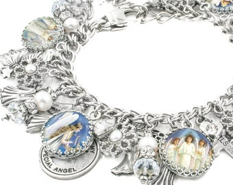 Guardian Angels Jewelry, Silver Charm Bracelet, Angel Jewelry Designs, Joyful Angel Jewelry, Angels Charm Bracelet