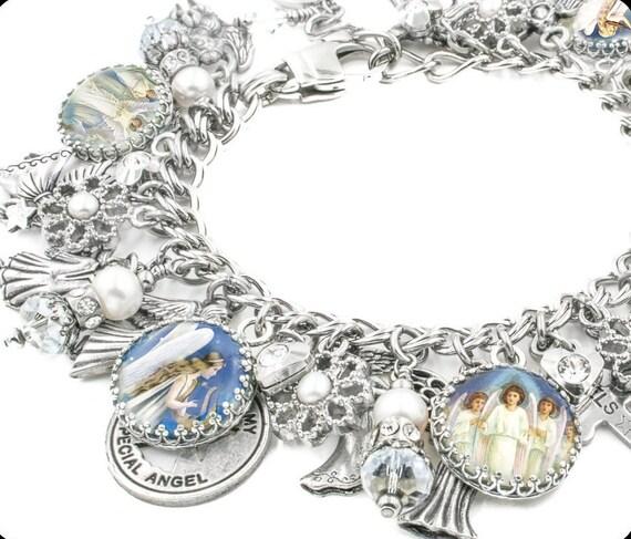 Guardian Angels Jewelry, Silver Charm Bracelet, Angel Jewelry Designs, Joyful Angel Jewelry, Angels Charm Bracelet