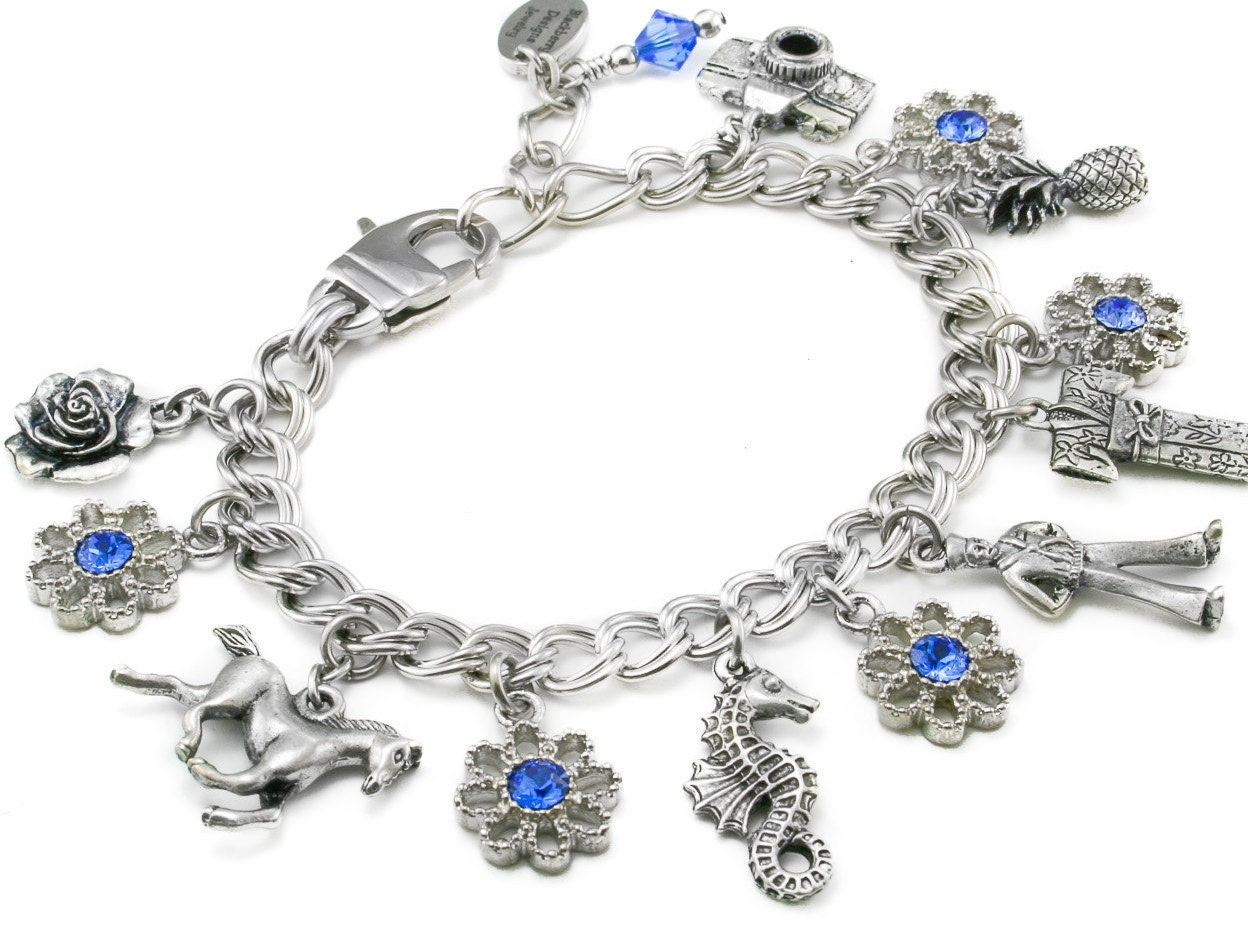 starter charm bracelet with your choice of charms of your