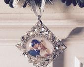 Wedding Couple, Newlyweds, Personalized Christmas Gift Tree Ornament