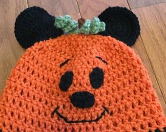 Mickey Mouse Pumpkin Beanie Mickey Pumpkin Beanie Mickey Halloween Beanie