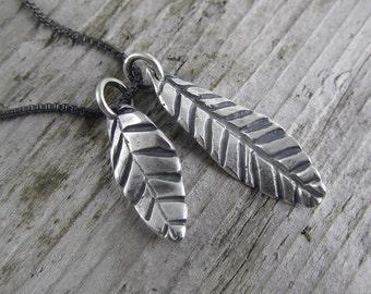 Handmade Sterling Silver Leaf Charm