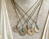 Vintage French Bohemian coin necklace/coin necklace/boho jewelry. Tiedupmemories