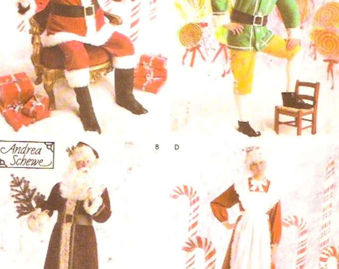 Holiday Santa Elves Christmas Costume Collection Sewing pattern Simplicity 4393 or 2542 Sz XS to Medium or Lg XL Uncut