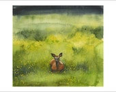 June Deer - Print of Original Watercolor