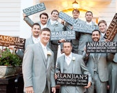 Groomsmen Gift,  Personalized Beer signs, gifts for groomsmen, Wedding Party Gifts Personalized Bar Sign Bridal Party Wedding Favors engaged