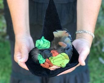Witch Hat, Mini Hat, Mini Top Hat, Halloween Fascinator