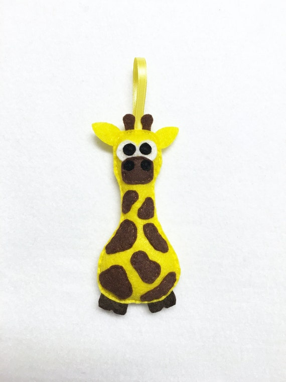 Giraffe Ornament, Christmas Ornament, Gertie the Giraffe, Christmas Decoration, Felt Ornament, Felt Animal