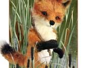 Fox Sewing Pattern, Mohair Fox PDF, DIY Fox Pattern, Teddy Bear Pattern, Stuffed Animal Pattern, Fox Plushie, DIY Stuffed Animal, Woodland