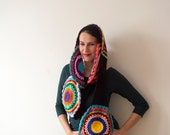 Multicolor Crocheted Circle Infinity Scarf