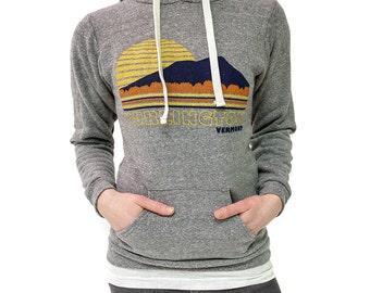Burlington Vermont Sweatshirt vintage inspired sunset hoodie pullover sweatshirt grey mens sweatshirt womens sweatshirt camels hump