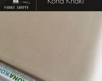 Kona cotton solid quilt fabric, Kona KHAKI 1187, Ivory fabric, Solid fabric Yardage, Kaufman, Cotton fabric, Choose the cut