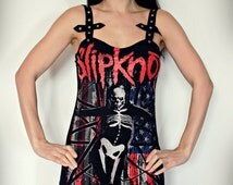 Slipknot shirt tunic top mini dress heavy metal clothing alternative apparel altered band tee t-shirt rocker inverted cross witchy