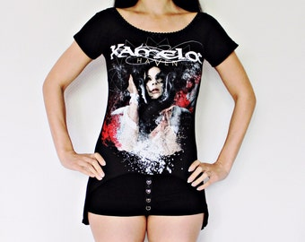 Kamelot Off Shoulder tunic top gothic metal clothing alternative apparel rocker chic altered band tee t-shirt