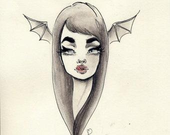Vampire queen original illustration