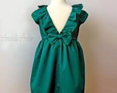 Emerald Green Dress for Toddler and Girl, Special Occasion, Flower Girl, Birthday