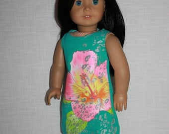 18 inch doll clothes, floral print tank dress, upbeat petites