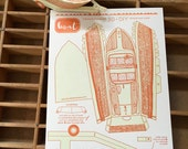 letterpress 3D DIY boat card