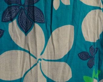 Vintage Hawaiian Tropical Mini Dress with ruffle, Sears Hawaiian Fashions, Cotton Tropical Beach Dress, Sun Dress, Summer Flower Dress