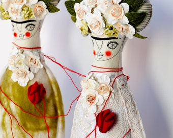 Frida Kahlo - art dolls - Hand made