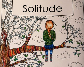 PEACEFUL SOLITUDE - An Adult Art Coloring Book