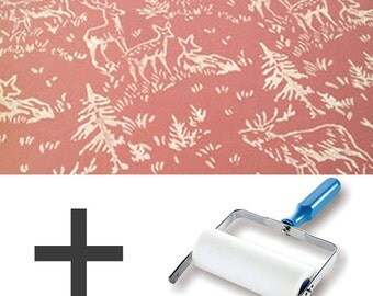 1-Colour Pattern Paint Roller STARTER PACK - Forest Animals