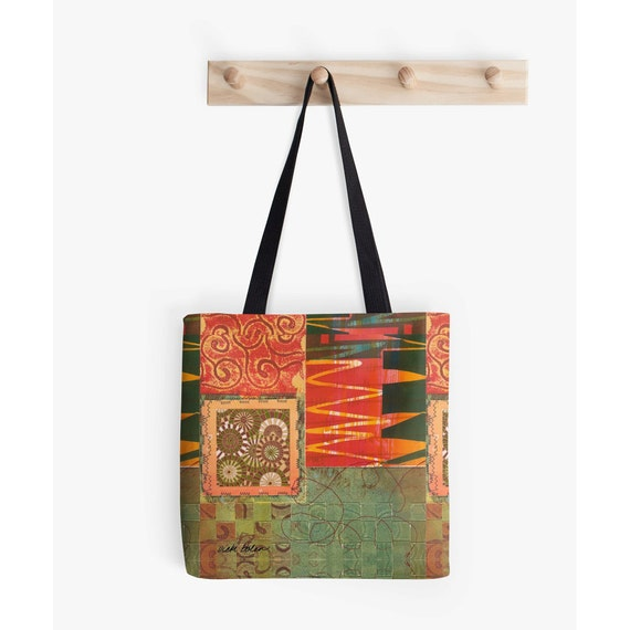Craft tote bagmarket totecarry all bagbeach totebag for Arts and crafts tote bags