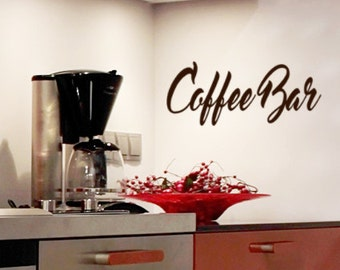 Coffee Bar Wall Decal, Coffee Station Decor, Office Wall Decals, Party  Planning,