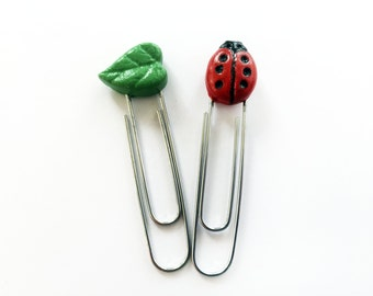 Lady Bug Paper Clips