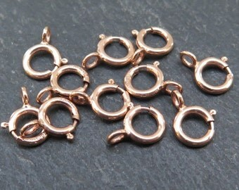 Rose Gold Filled Spring Ring Clasp 5mm (CG8339)