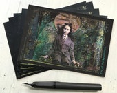 "SET OF 5 POSTCARDS - ""Eve of the Revolution"" 4 x 6 cards, postcards, post cards, fantasy, steam, steampunk, vintage, spooky, creepy"