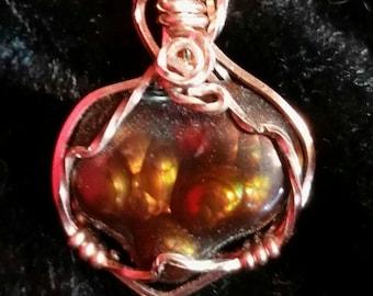 4236 Fire Agate (Heart on Fire)