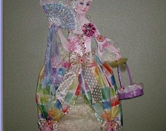Marie Antoinette Easter Paper Doll     CSST