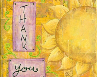 Thank You Collage Painting