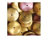 Czech Glass Ripple Beads 12mm Discs 18347 (50), Matte California Pink Disk Beads, Rondelle Czech Beads, Preciosa Beads, Two Tone Beads