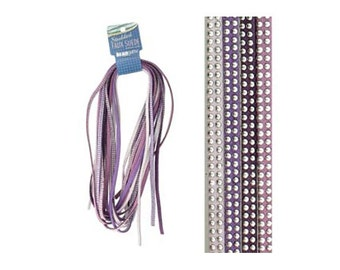 Studded Faux Suede Leather 43480 Lilac Purple Mixture 5mm Faux Suede Cording, Soft Faux Suede, Faux Suede Cording, Imitation Leather