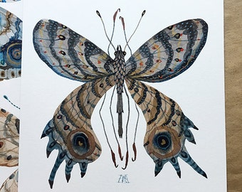 Butterfly ARRAKIS, original watercolor painting