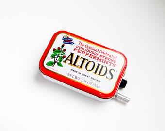 Portable Mint Tin Guitar Amp, Headphone Amp, MP3 Amp w/ Speaker, Volume Control, & 10X Gain (Peppermint Altoids)