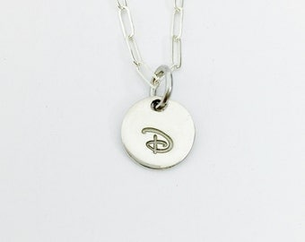 Silver Initial Necklace - Sterling Silver - Dainty Initial Jewelry - Letter Charm