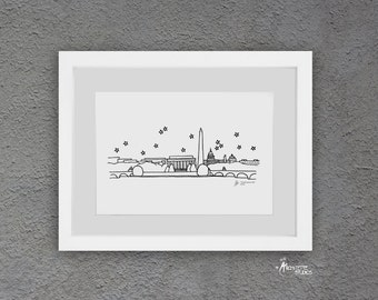 Skyline Series - Black and White Art Print (4 x 6)