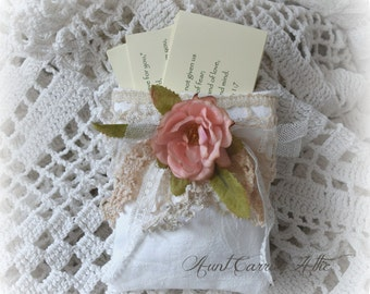 Scripture Cards Bible Verses in Shabby Gift Bag Holder for Bible Verse Pack Set of 10 Encouragement Verses Bible Promises