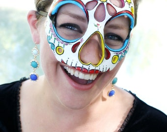 25% OFF!! - La Muerte - Calavera- Inspired Masquerade Mask in Bright Colors - The Book of Life