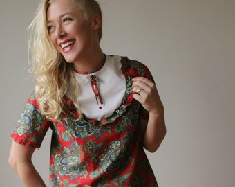 1960s Paisley Mini Dress~Size Extra Small or Girls Size 10/12/14