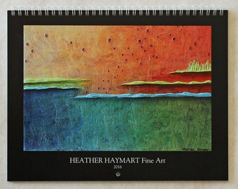 2016 Wall Calendar with Original Paintings by Heather Haymart