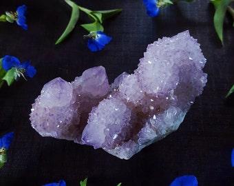 Spirit Quartz Cluster - Large Lavender Pink Spirit Quartz Crystal - Spirit Quartz Cactus Quartz Fairy Quartz - Pastel Spirit Quartz Crystal
