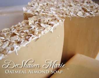 SOAP- Oatmeal Almond Soap - Handmade Soap - Fresh Soap- Soap Gift - Mother's Day Gift - Birthday Gift - Christmas Gift - Father's Day Gift