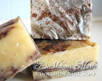 SALE SOAP- Organic Cinnamon Bark Soap - Cold Process Soap, Vegan Soap, Natural Soap, Christmas Gift, Father's Day Gift, Soap for Men, Soap F