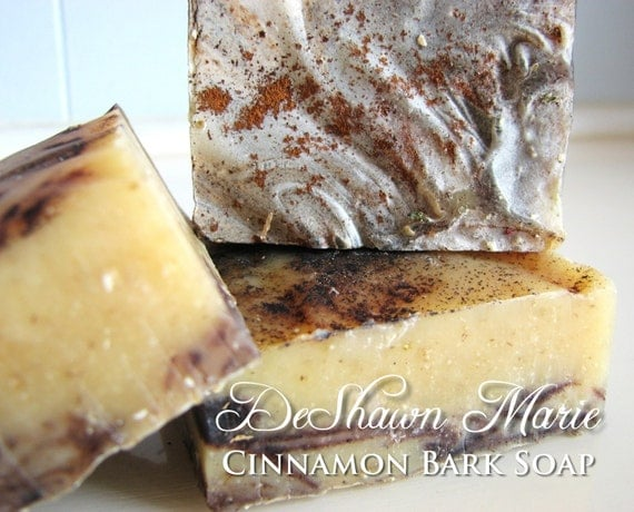 SOAP- Organic Cinnamon Bark Soap - Cold Process Soap, Vegan Soap, Natural Soap, Christmas Gift, Father's Day Gift, Soap for Men, Soap Favors