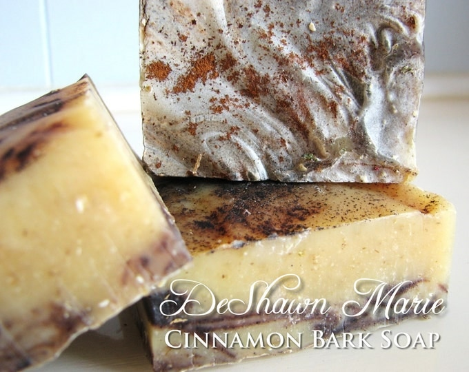 SOAP- Organic Cinnamon Bark Soap - Cold Processed Soap - Handmade Soap - Vegan Soap